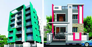 excellent tropical house design ideas beige colored concrete grey