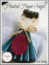 twigs and twirls christmas in july pleated paper angel