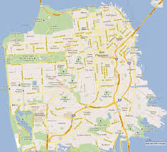 San Francisco Ca Map by San Francisco