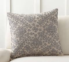 moroccan embroidered pillow cover pottery barn
