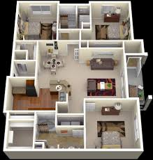 large apartment floor plans 20 plans for 3 room apartments with modern 3d designs home
