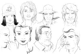 sketching faces by al muhajir on deviantart