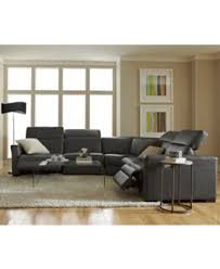 Sofa With Recliners by Nicolo 5 Pc Leather Sectional Sofa With 2 Power Recliners And