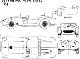 ferrari front drawing ferrari 250 tr group s 1957 racing cars