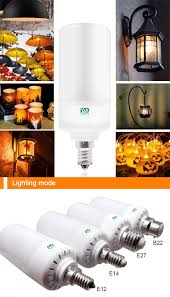why led light bulbs flicker warm white ywxlight led light bulb leaping flickering flame e14 5w