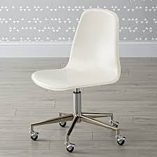 White Desk And Chair White Silver Class Act Desk Chair The Land Of Nod