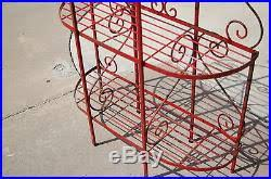 Patio Bakers Rack Outdoor Bakers Rack Plant Stand Outdoor Patio Wrought Iron Shelves