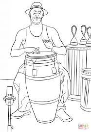 conga drummer coloring page free printable coloring pages