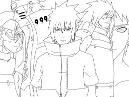 drawing naruto vs obito and madara sketch coloring page coloring