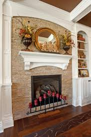 creative stacked stone fireplace design stone fire places home