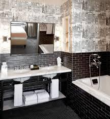 hotel bathroom ideas hotel chic bathroom ideas 30 black and white bathroom tiles in a