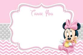 minnie mouse thank you cards baby minnie mouse baby shower invitations partyexpressinvitations