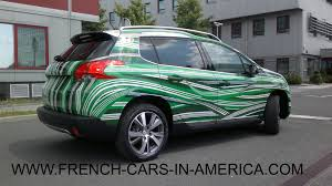 peugeot cars usa peugeot 2008 art car against minefields in croatia fcia french