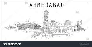 ahmadabad city vector hand drawing sketch stock vector 493067722
