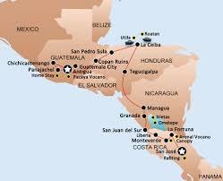 Map Of Roatan Honduras Bus Pass San Jose Costa Rica Roatan Honduras Antigua Guatemala