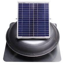 Cool Attic Ventamatic Cool Attic 1000 Cfm Grey Solar Powered Roof Attic Vent