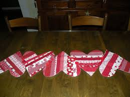 valentines day table runner pots and pins creativity quilts diy projects grandbabies