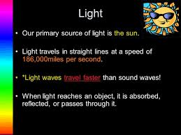 What Travels Faster Light Or Sound Welcome To A Power Point Presentation On Light Ppt Download