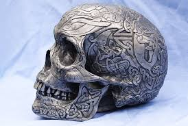 Celtic Skull - celtic skull side view by wintersmagicstock on deviantart