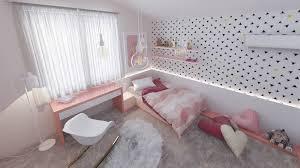 ruban led chambre design interieur chambre fille blanc ladaire suspensions