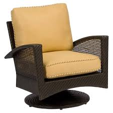 Fabric Swivel Chairs by Whitecraft By Woodard Trinidad Wicker Swivel Lounge Chair Wicker Com