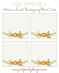 printable place cards just peachy designs free printable thanksgiving place cards