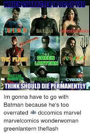 Batman Green Lantern Meme - whichcharacter ndcdoyou batman green lantern creenarromma cyborg