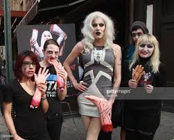 halloween new york city sharon needles and zombies unveil halloween peta ad campaign