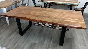 esszimmer tisch details zu esstisch baumstamm tisch baumkante akazie massivholz