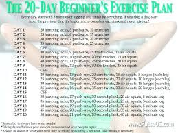workout plans for beginners at home exercise at home plan 4 week beginners workout plan level one