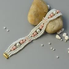pink glass bead bracelet images Pandahall tutorial on how to make elegant pearl bracelet with pink jpg