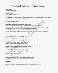 cover letter software testing resume samples software testing