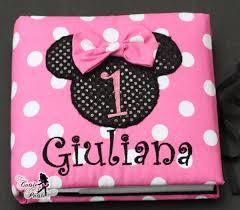 minnie photo album baby girl birthday photo album