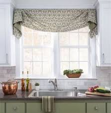 kitchen window valance ideas diy no sew faux shade pinteres