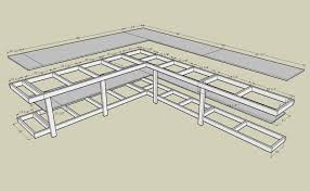 Woodworking Bench Plans by Corner Workbench With Measurements Plywood And 2x4 Basement