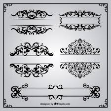 ornamental borders in retro style vector free