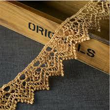 gold lace ribbon 10 yard 4cm 1 57 wide gold lace trim ribbon l22k363 free ship in