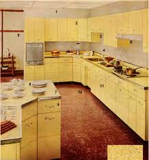Vintage Kitchen Cabinets by Kitchen Beauteous Kitchen Decoration Using Yellow 1960s Kitchen