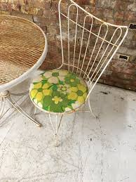 Wire Patio Chairs by Wire Patio Bistro Set Homecrest Adjustable Table 1960 U0027s Vintage