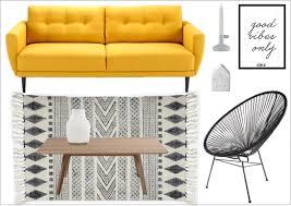 autour d un canape variations autour d un canapé jaune joli place