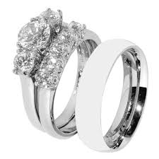his and hers wedding ring sets cz wedding ring sets cubic zirconia wedding rings in italy wedding