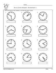 telling time to the nearest 5 minutes worksheets free worksheets