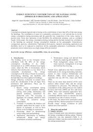 energy efficiency contribution of the natural stone approach in