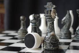 chessbaron the zebra black zebra marble and wh