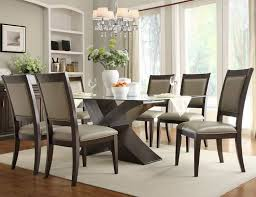 Unique Glass Dining Room Table And Chairs  For Small Home Decor - Dining room table glass