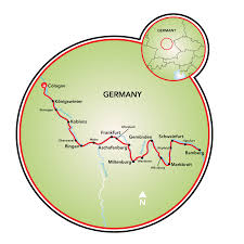 Wurzburg Germany Map by Cologne To Bamberg Bike And Barge Tour Germany Tripsite
