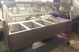 steam table with sneeze guard used aerohot duke 5 well stainless steam table w warmers sneeze guard