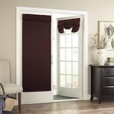 kitchen sliding door window treatments french door sheers pocket