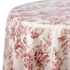 Table Cover Rentals by Toile Print Table Linen Rentals