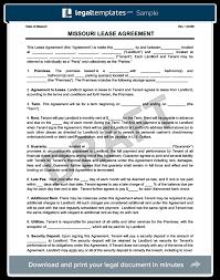 missouri residential lease rental agreement create u0026 download